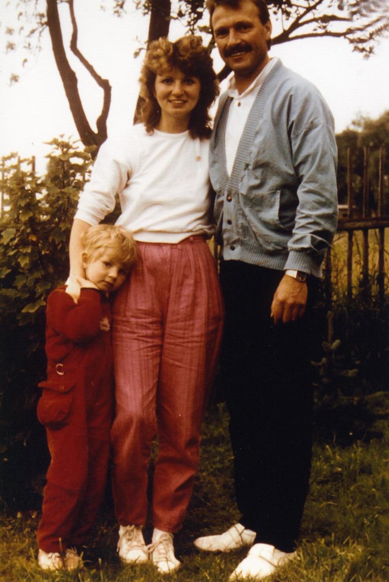 Familienfoto vor der Flucht