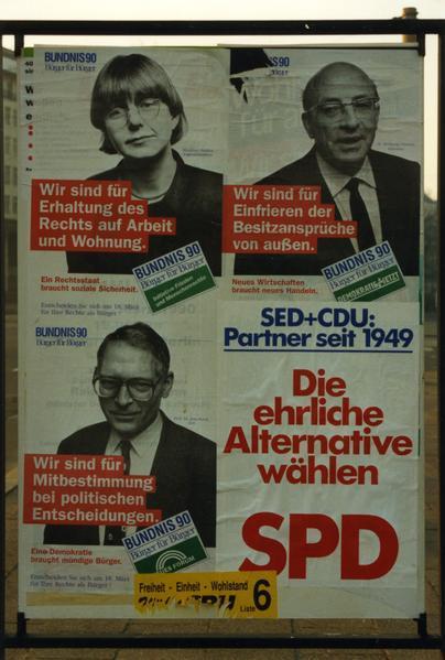 Bündnis 90- und SPD-Plakate