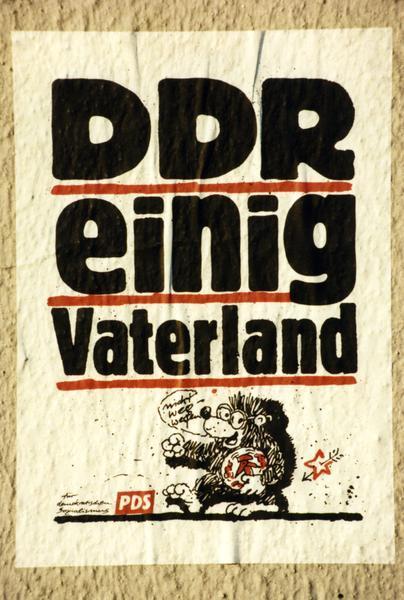 """PDS-Plakat """"Einig Vaterland"""""""