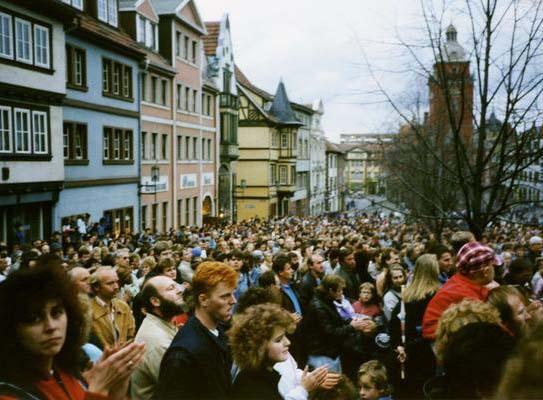 Demonstration auf dem Hauptmarkt