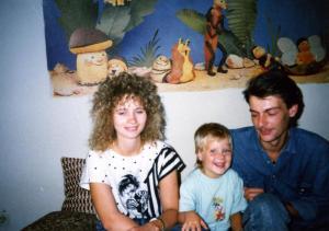 Familienfoto vor der Ausreise in Berlin-Prenzlauer Berg