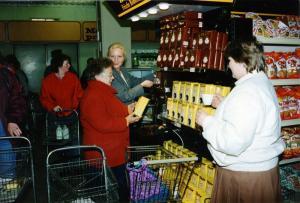 In einem Supermarkt
