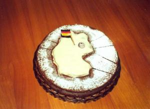 Einheitstorte, gebacken zur Feier der deutschen Einheit
