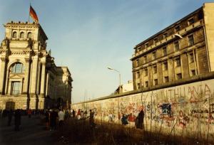 Mauerspechte am Reichstag