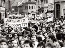 Erste Großdemonstration in Suhl